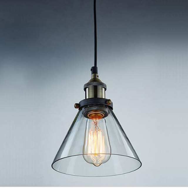 modern industrial lighting. wonderful modern ac100240v d18h23cm clear glass lampshade funnel pendant light kitchen  lamp novelty household and modern industrial lighting