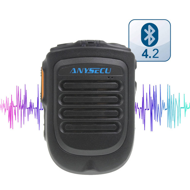 Wireless PTT Bluetooth handsfree Speaker B01 Microphone for POC Android Network Radio Walkie Talkie Phone work with Zello PTT