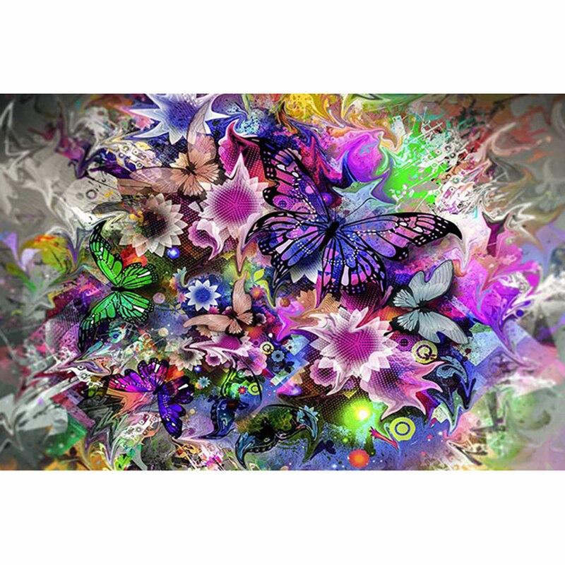 5D DIY Diamond Painting Pretty butterfly Diamond Embroidery Cross Stitch Rhinestone Mosaic Painting ZH