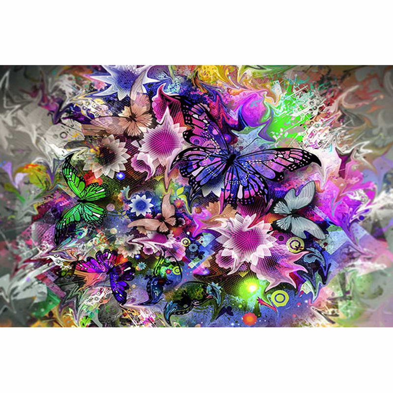 5D DIY Diamond Painting Pretty butterfly Diamond Embroidery Cross Stitch Rhinestone Mosaic Painting ZH