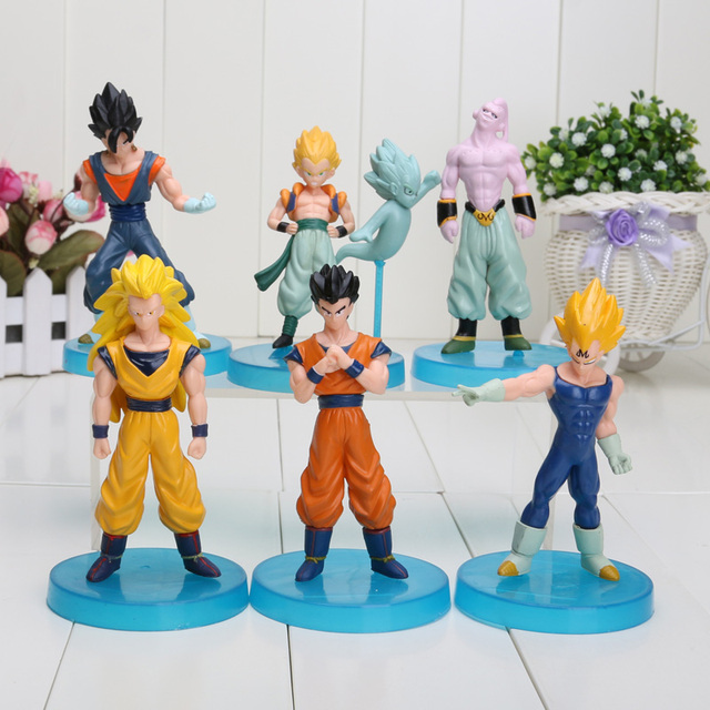 6pcs/set Dragon Ball Z Super Saiyan PVC Action Figure Toy