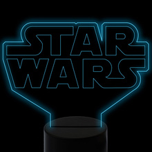 3D Led Visual  7 Colors Change Gradient Star Wars Night Light Kids Touch Button Table Lamp Usb Bedroom Sleep Lighting Home Decor