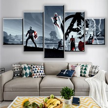 Movie Character Avengers: Endgame Hero warrior Picture 5 Piece Home Decoration For Living Room HD Print Wall Art Canvas Painting