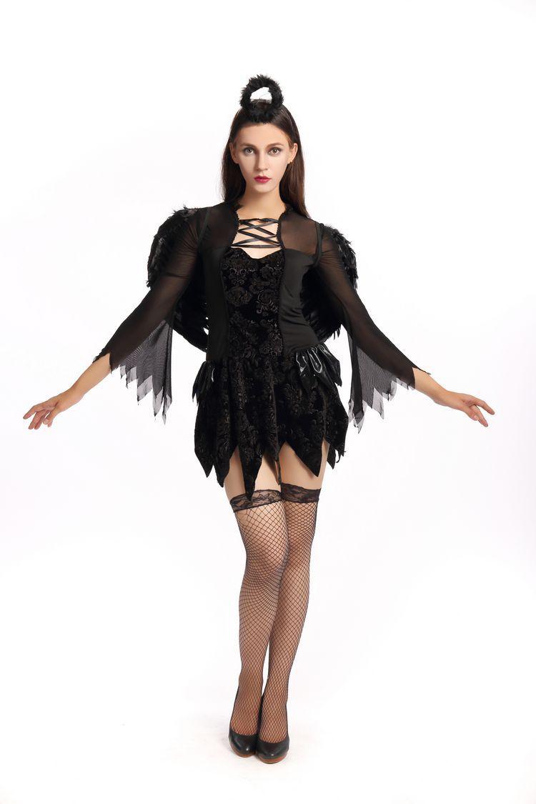 Эротический костюм черный ангел фото 426-677