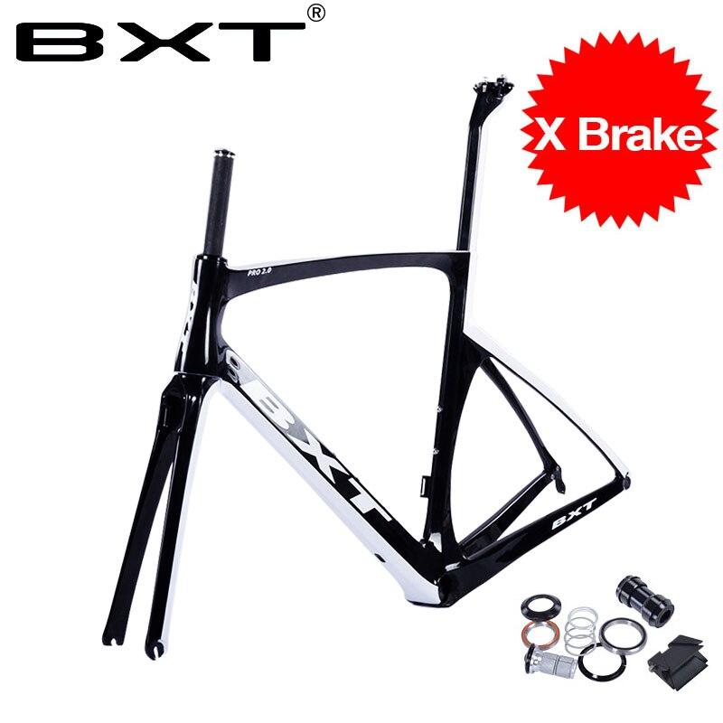 2018 BXT Carbon Road Bike Frames Racing Bike Frame Super Light Bicycles Carbon Road Frame BSA Cycling Frameset Fast Free Shippin