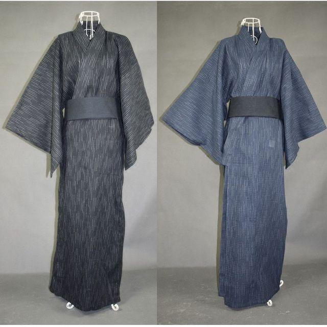 2017 Nuevos Hombres de la Llegada 100% algodón Albornoz Masculina Tradicional Japonés Kimono masculino viaje hotel Albornoz del camisón de los Hombres 122601