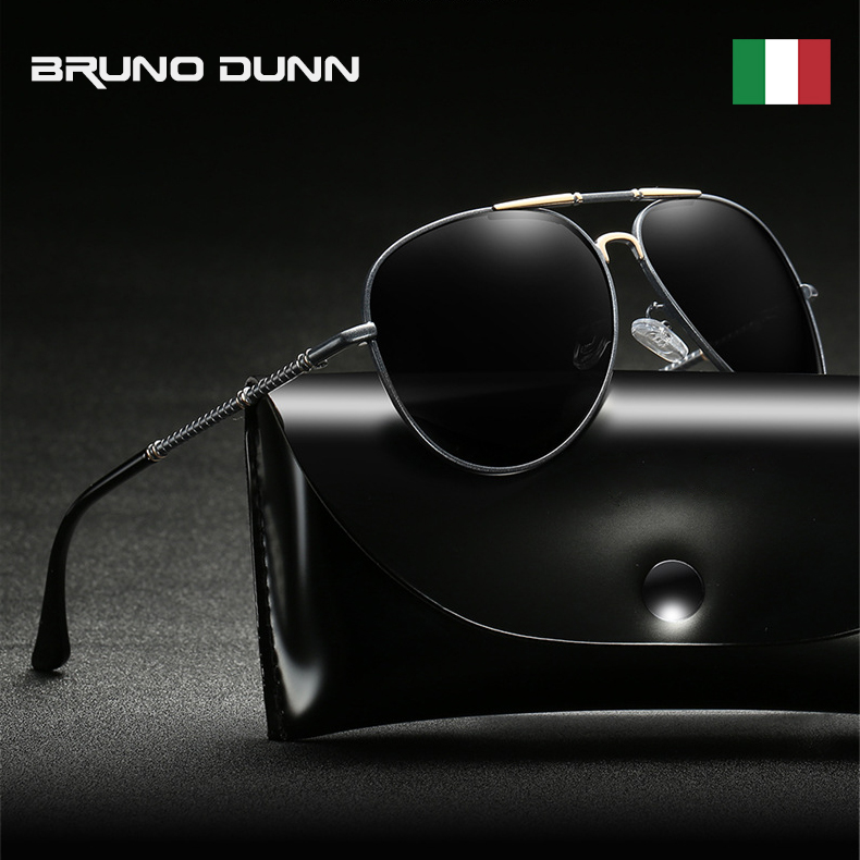 BRUNO DUNN 2019 Polarized Brand Designer Sunglasses For Men Vintage - Apparel Accessories
