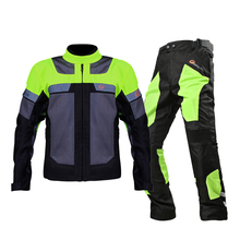 Motorcycle Jacket Racing Suit Mens Windproof Protective Gear Armor Jacket+Motorcycle Pants Hip Protector Clothing Set