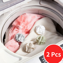 Laundry-Ball Dryer Softener Washing-Machine Clean Portable Plastic 2pcs Decontamination