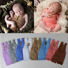 Newborn Photography Props Cute Baby Pants Mohair Suspenders Costume Photo Studio Fotografia Accessories