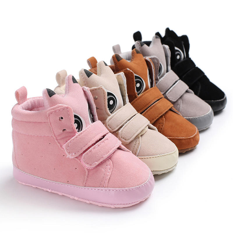 2018 New Cartoon Baby Shoes Soft Sole Infant Crib Shoes 0-18M Handmade Baby Moccasins