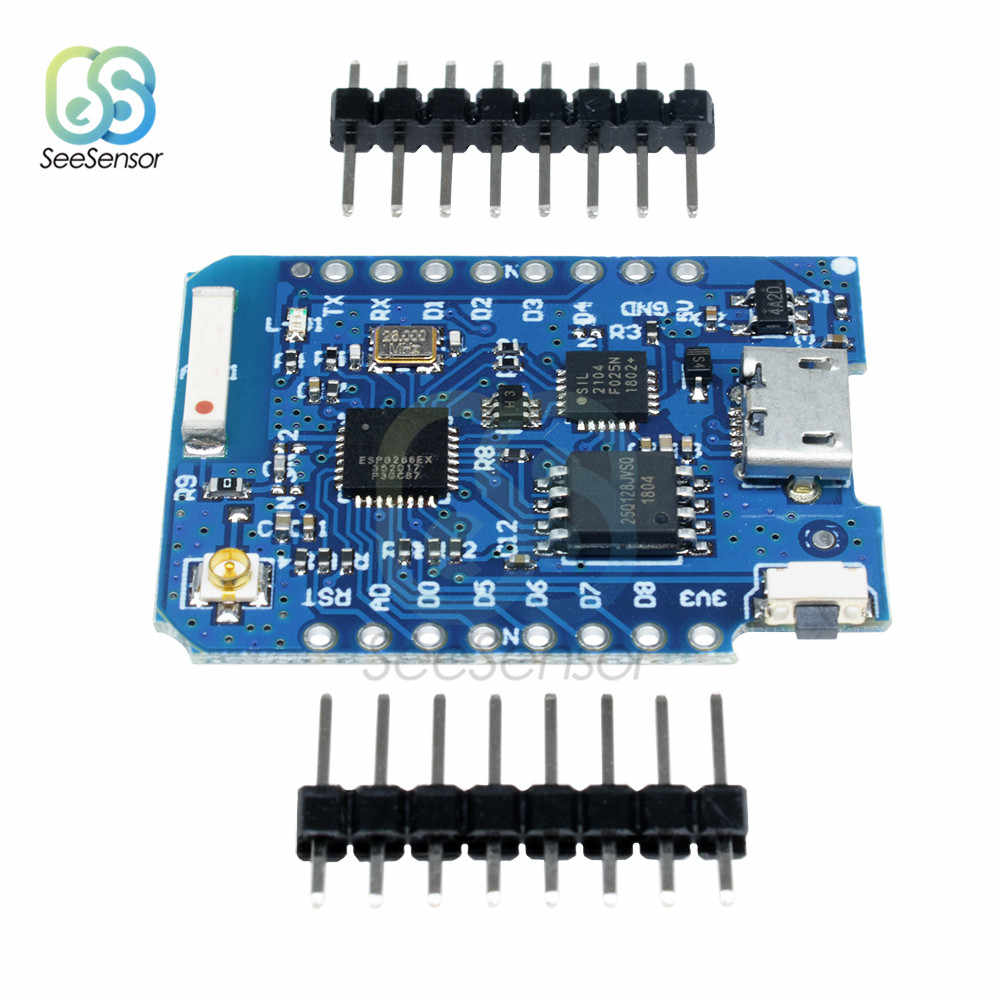 Para WEMOS D1 Mini Pro 16M Bytes conector de antena externa ESP8266 ESP-8266EX CP2104 Placa de desarrollo WIFI Micro USB