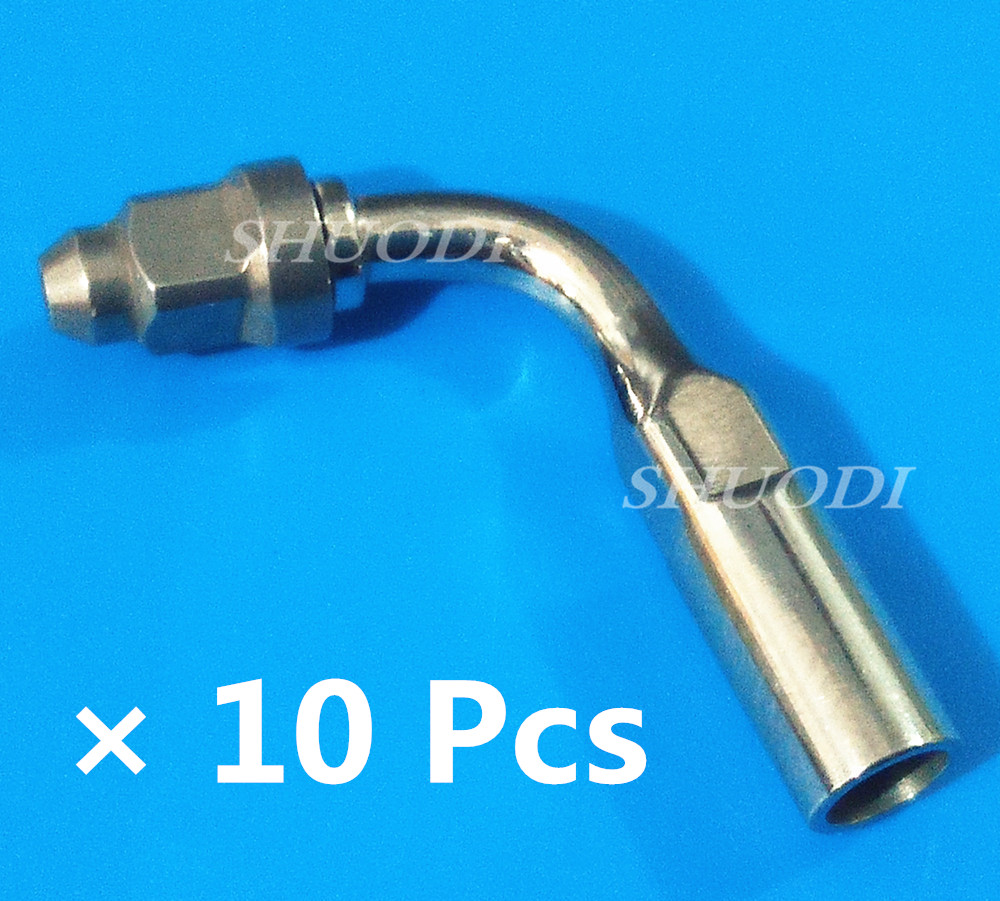 10 Pieces ED1/ED2 120 Degree/95 degree Angle Dental Ultrasonic Scaler Tips compatible SATELEC DTE scaling handpiece10 Pieces ED1/ED2 120 Degree/95 degree Angle Dental Ultrasonic Scaler Tips compatible SATELEC DTE scaling handpiece