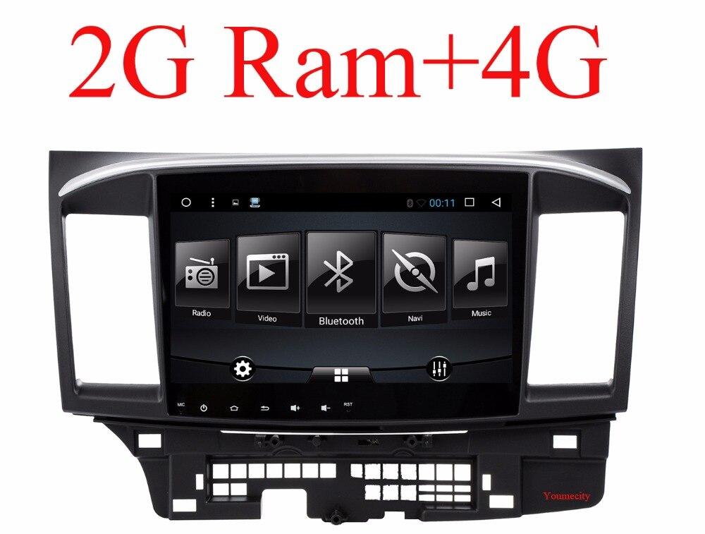 imágenes para 2g ram android 6.0 2 din car dvd gps para mitsubishi lancer 2008-2016 jefe unidad de radio reproductor de vídeo + wifi SWC vídeo Radio Estéreo