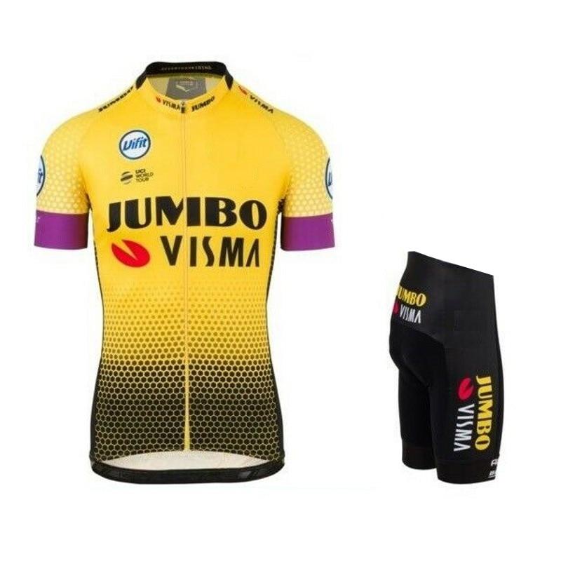 2019-Pro-team--visma-cycling-jersey-set-mens-bicycle-maillot-MTB-Racing-ropa-Ciclismo-summer