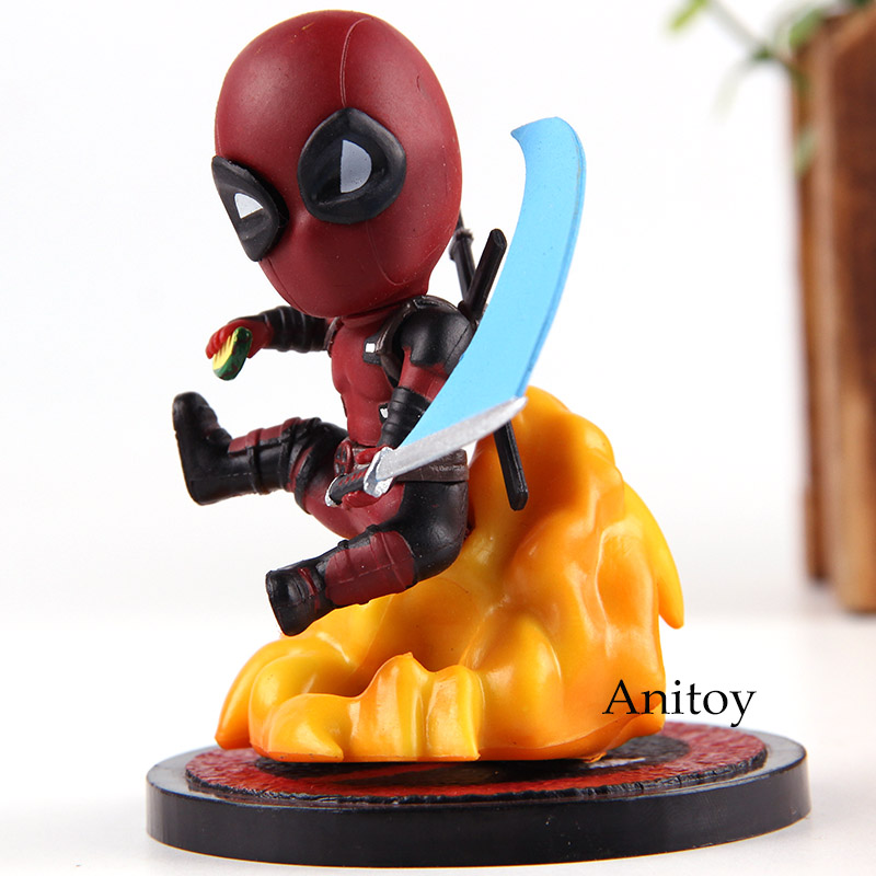 MEA-004 Marvel Comics Deadpool Mini Egg Attack Series PVC Dead Pool Figure Action Collection Model Toys for Boys image