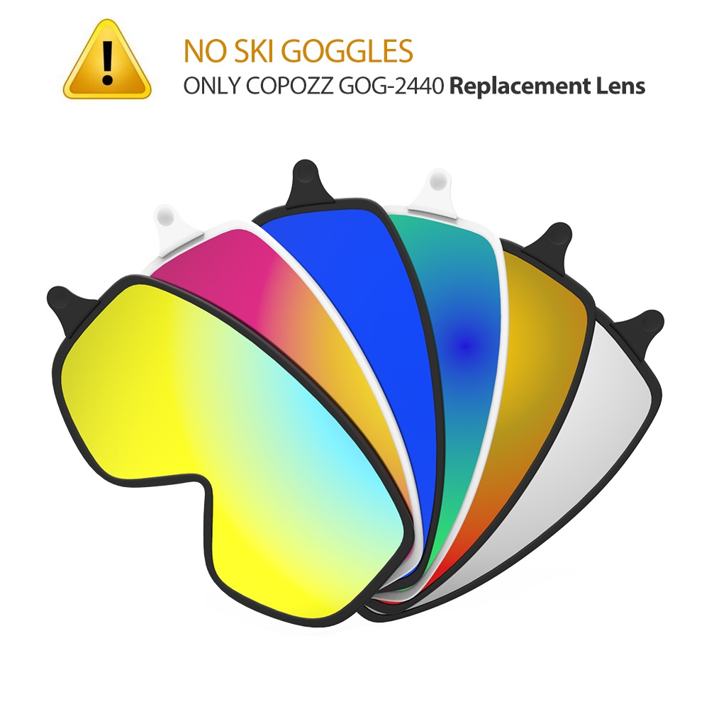 COPOZZ Dual-use Magnetic Ski Lens Quick-change 2440 Lenses Adult Anti-fog UV400 Night Skiing Snowboard Goggles For Men & Women