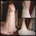 new Luxury Real Sample Backless Heavy Beads Cape Wedding Dresses 2016