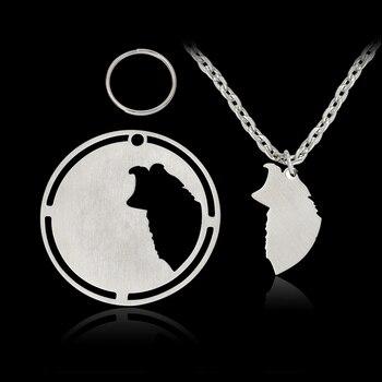 2 pcs/set Silver Pendant Necklace