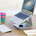 "MacBook and PC Laptop Support Ergonomics Stand Silver Aluminum Alloy Cooling Carrier Foothold Steady for Size 12""-17"" Screen"