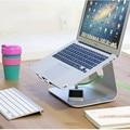 """MacBook y PC Portátil Soporte Ergonomía Soporte Portador de Enfriamiento de la Aleación de Aluminio de Plata Punto de Apoyo Constante para el Tamaño de 12 """"-17"""" pantalla"""