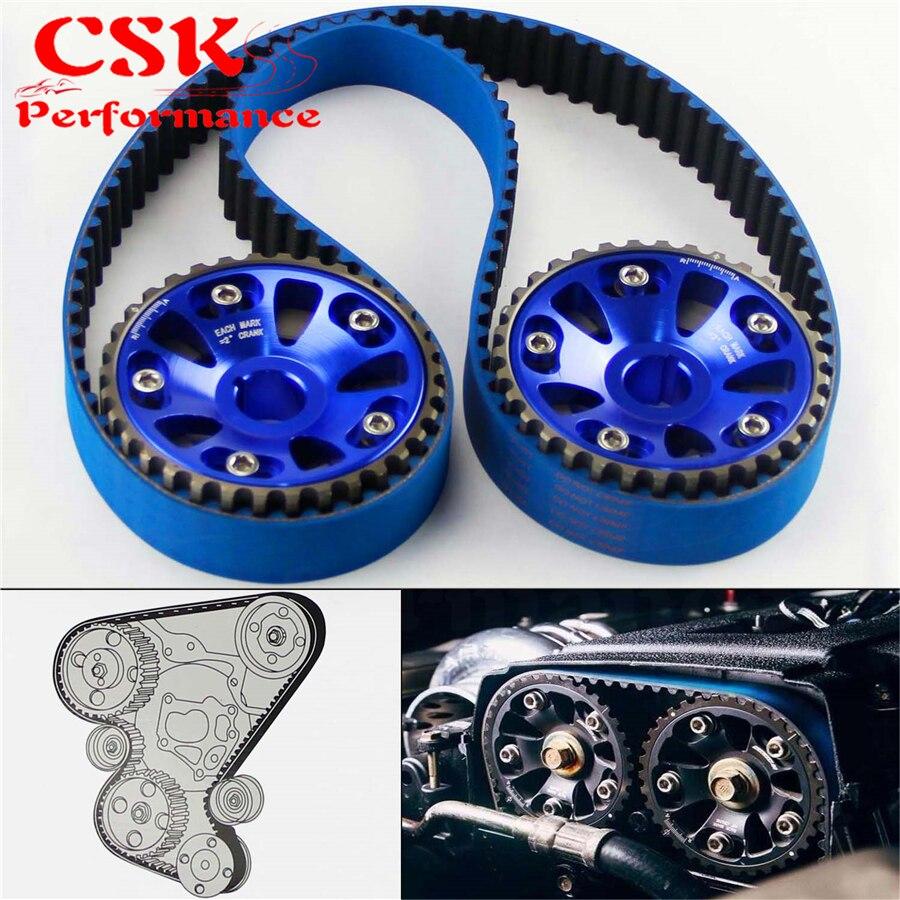 Timing Belt +Cam Gear Pulley Fits For Honda B16A 99-00 Civic Si 94-97 Del Sol VTEC Blue/Black/Red