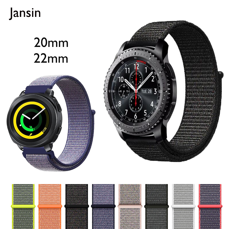 все цены на 22mm 20mm nylon sport Strap for Samsung Gear S3 Classic/S3 Frontier /Gear s2/Gear sport/Galaxy Watch 46mm 42mm watch band