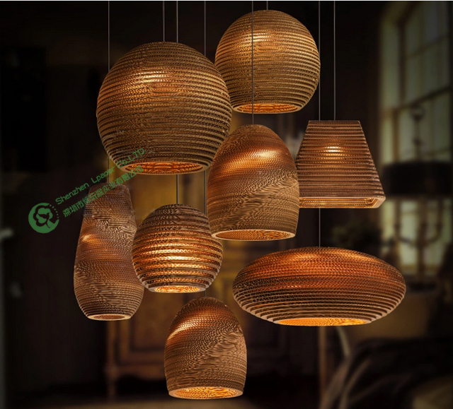 2015 beautiful christmas decor light handmade natural recycled paper 2015 beautiful christmas decor light handmade natural recycled paper cardboard lamp chinese chandeliercorrugated paper art in pendant lights from lights aloadofball Gallery