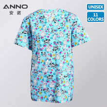 deab4d56e93 Free Shipping Resistant to Rinsing Unisex Spandex Scrubs Beauty Centre  Clinical Medical Uniforms Nurse Suit Medical Scrubs TOP