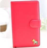 New Style Lovely Rainbow Small Horse Notebook With Button Free Shipping