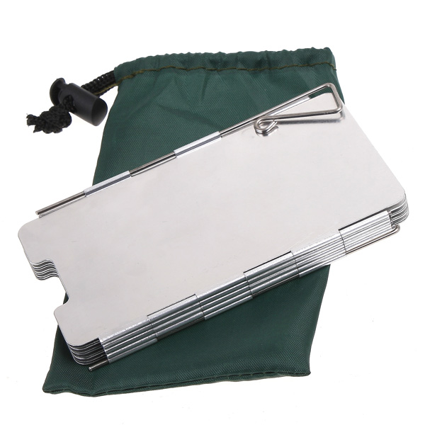 9 Plates Gas Stove Wind Shield for Outdoor Camping Picnic Cooker Foldable