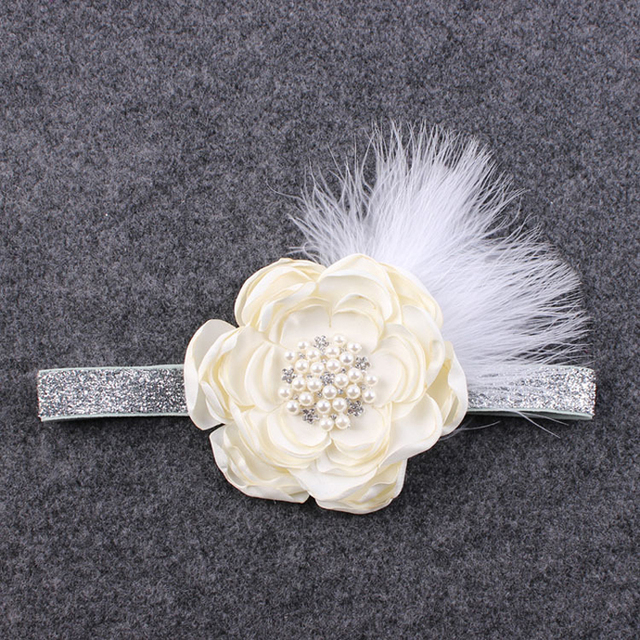 Baby Toddler Infant Angel Wings Feather Flowers Rhinestone Headband Costume HairBand Accessories Newborns Photography Props