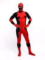 High Quality Halloween Carnival Party Color Block Superhero Bodysuit Zentai Suit