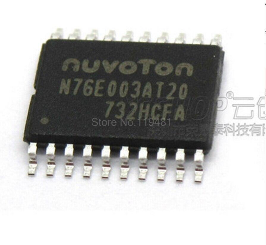 76E003 TSSOP20 MCU 8-Bit 8051 CISC 18KB Flash 2.5V/3.3V/5V 20-Pin N76E003AT20