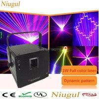 Niugul 1 W Projektor Laserowy RGB etap 1 w rgb światła laserowego 3D kolorowe światła laserowego disco klub nocny bar ktv rgb animacja laser show