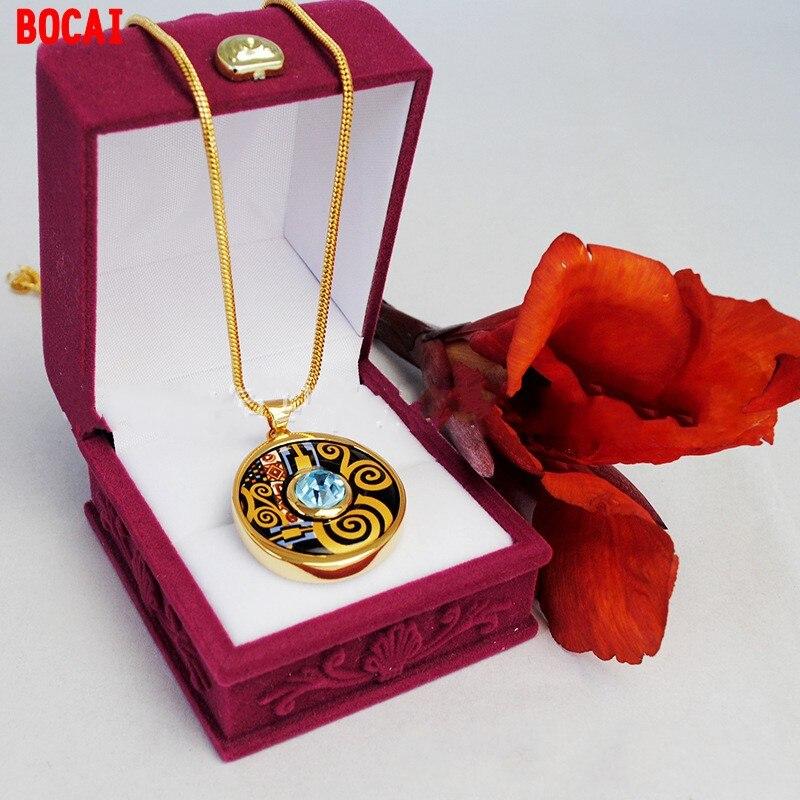 Style autrichien sautoir cloisonné émail couleur diamant pendentif fabricants fournir un collier peut être mélangé lot