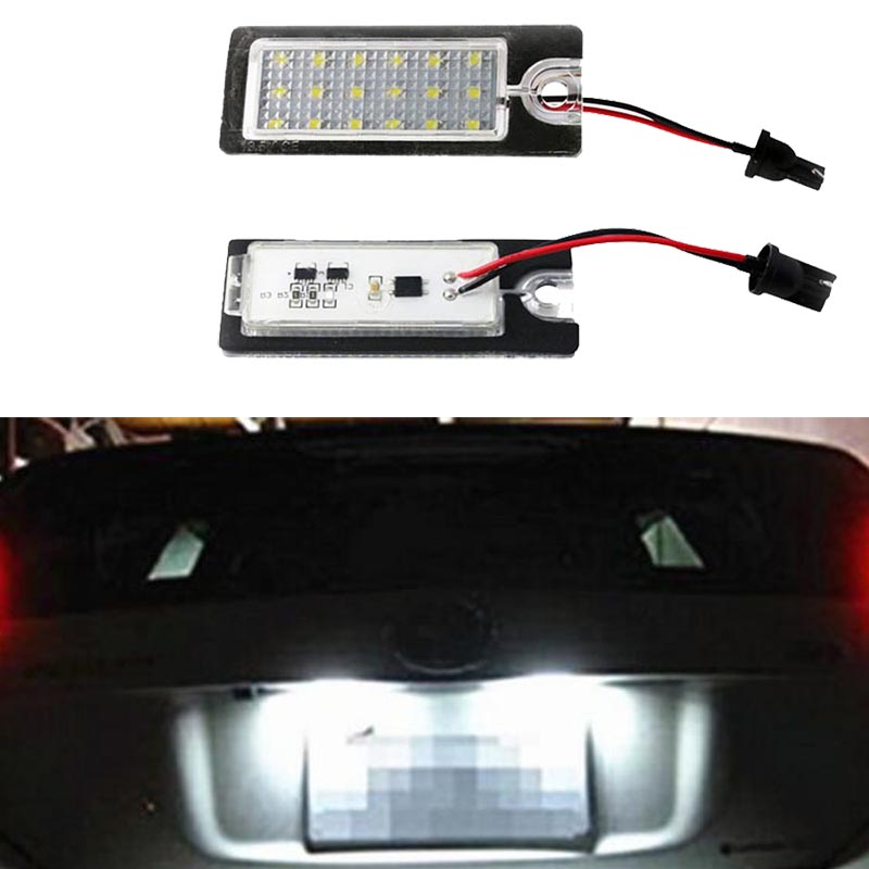 Hopstyling 2X 18SMD For Volvo V70 XC70 S60 S80 XC90 LED license plate light Car styling car led light for Volvo 12v Auto parts eonstime 2pcs canbus 18smd led number license plate light lamp for hyundai i30 gd 2013 2014 2015 auto car styling
