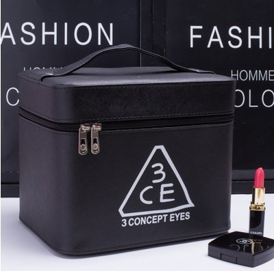 Profesional Negro Estuche de Cosméticos de Gran Capacidad de la Mujer Portátiles Maquillaje cosmético bolsas de almacenamiento de bolsas de viaje
