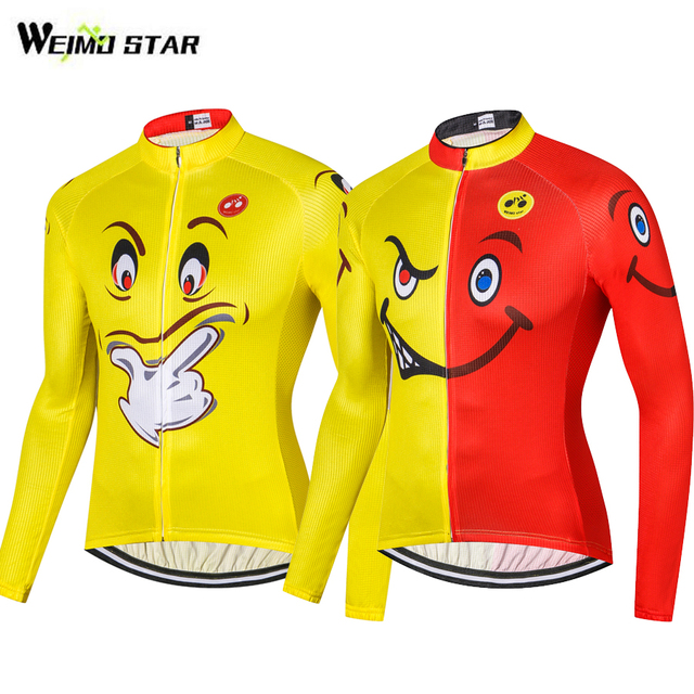 9e715bf74 WEIMOSTAR Funny Cartoon Pro Team Men s Long Sleeve Cycling Jersey Bike Wear  Cycling Clothing Ciclismo Sportswear Maillot S-XXXL