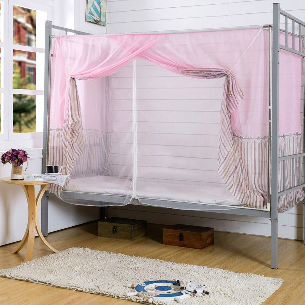 2018 Wholesale High quality Students Dormitory Bunk Beds Nets Spread Blackout Curtains Mosquito Net #2830