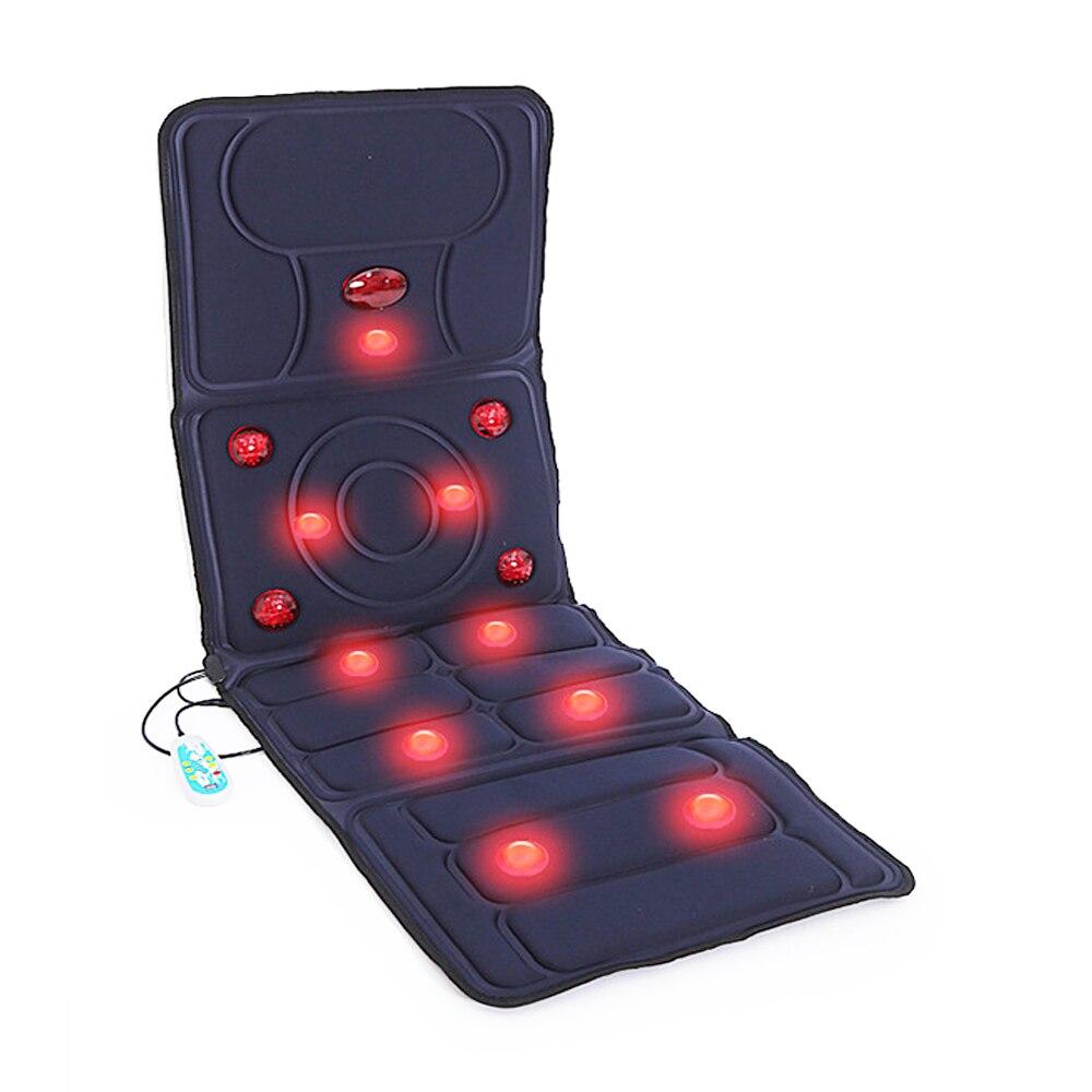 Nova atualização 9 modo elétrica vibratória massageador colchão infravermelho distante terapia de aquecimento pescoço volta massagem relaxamento cama saúde carro
