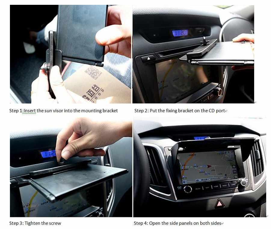 6-10 Inch GPS Dẫn Đường Phụ Kiện Đa Năng Tấm Che Nắng Chống Nắng và ĐỊNH VỊ GPS Màn Hình Áo Hood Rộng 145mm- 245mm