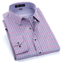 Men S Long Sleeve Thin Plaid Checkered Formal Dress Shirts With Single Chest Pocket Smart Casual