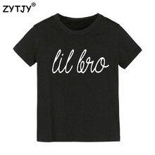 Lil Bro с буквенным принтом Детская футболка для мальчиков и девочек детская одежда для малышей Забавные футболки z-37