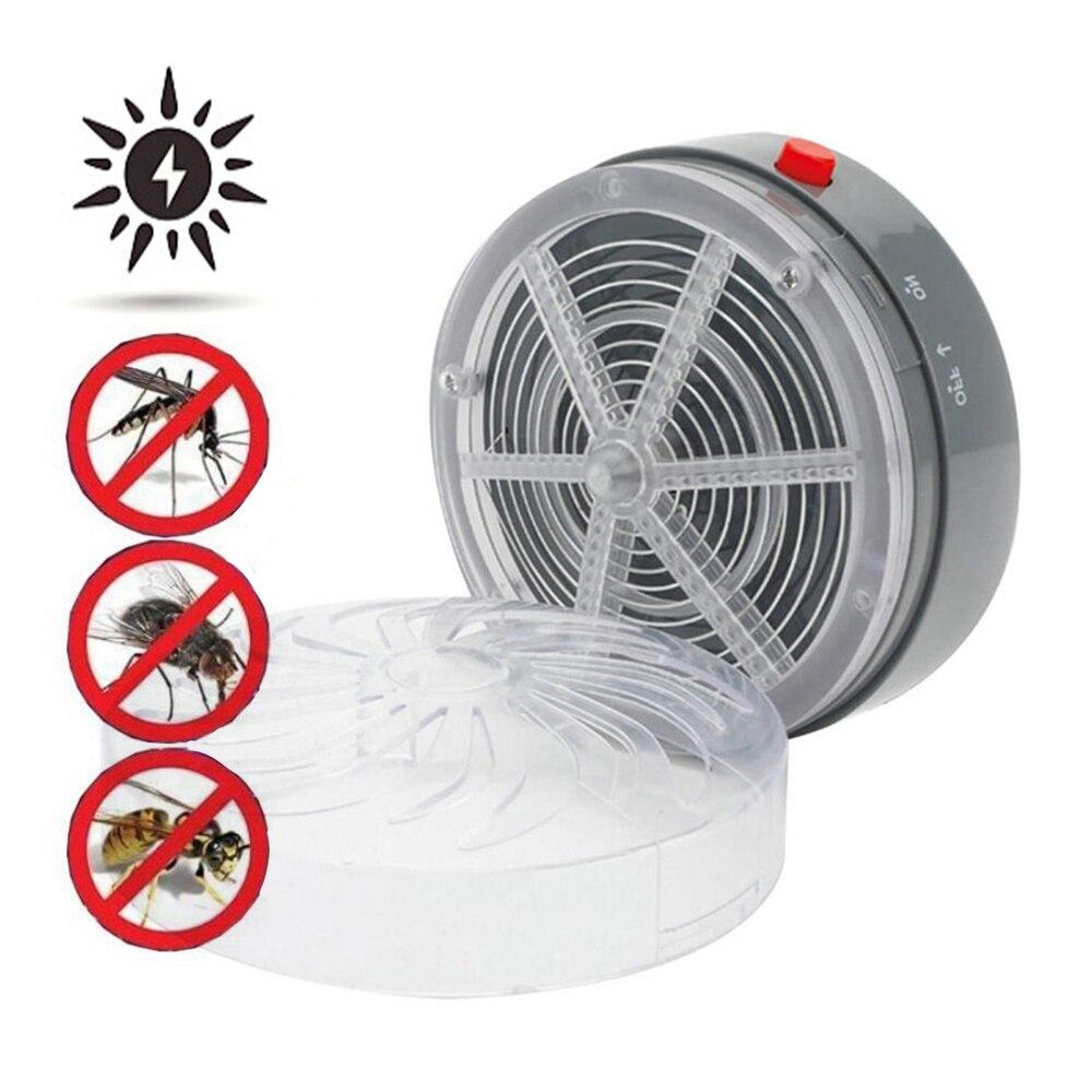 Solar Power Mosquito Killer Lamp Buzz UV Lamp Light