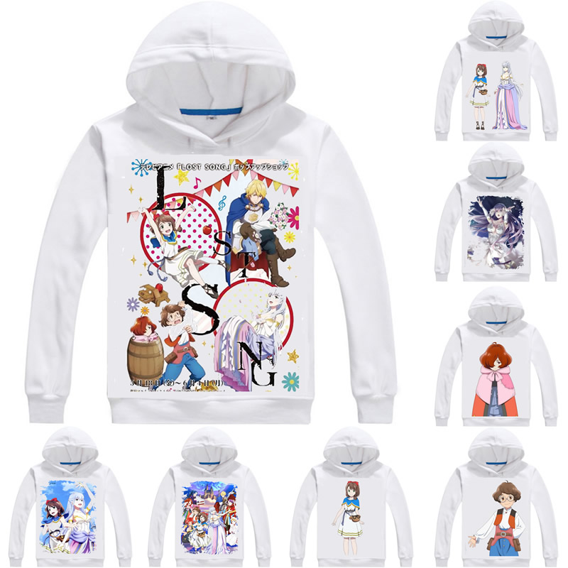 LOST SONG Hoodies Multi style Hooded Hoodie Musical Fantasy Anime Rosuto Songu Rin Finis Cosplay Sweatshirts