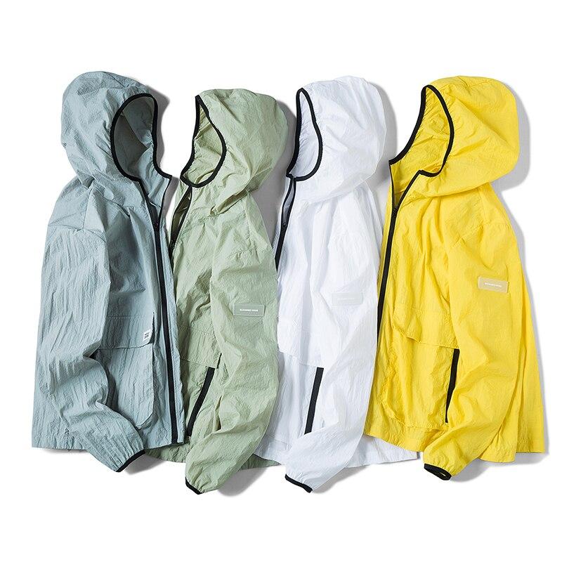 Mens Womens Ultra-Light Hooded Casual Jacket Clothings Anti-UV Thin Beachwear Cover Unisex Long Sleeve Quick Dry Sun Protection