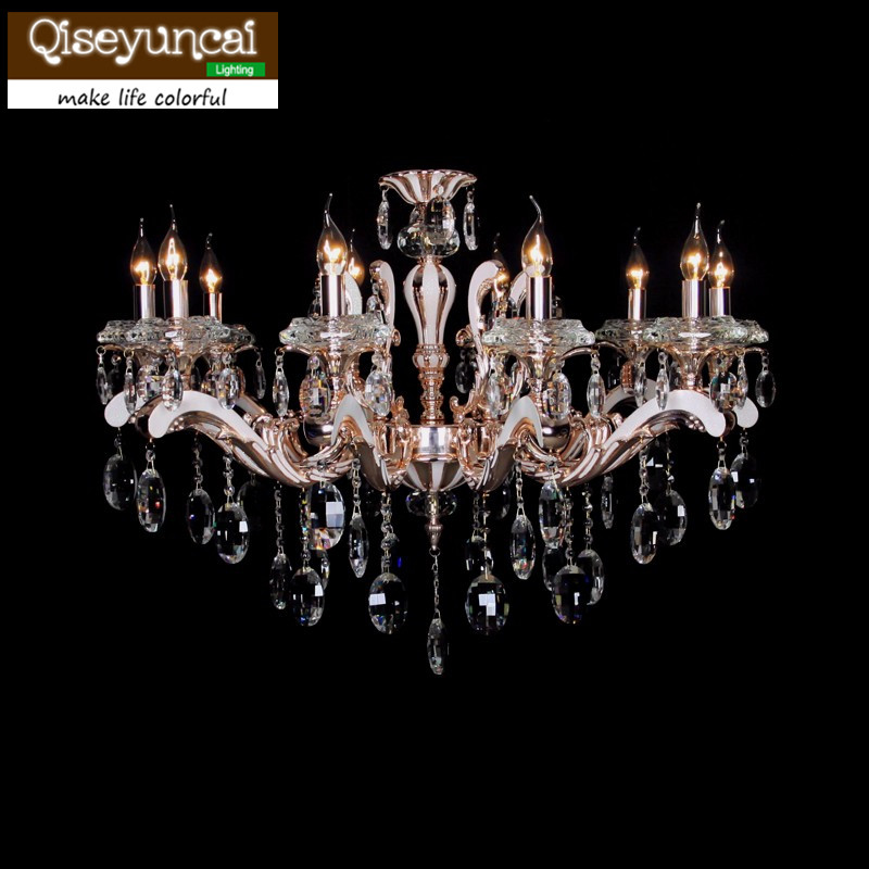 2016 Europe and the United States style E14 top luxury 10 head K9 crystal candle pendant Gold Double villa lighting2016 Europe and the United States style E14 top luxury 10 head K9 crystal candle pendant Gold Double villa lighting