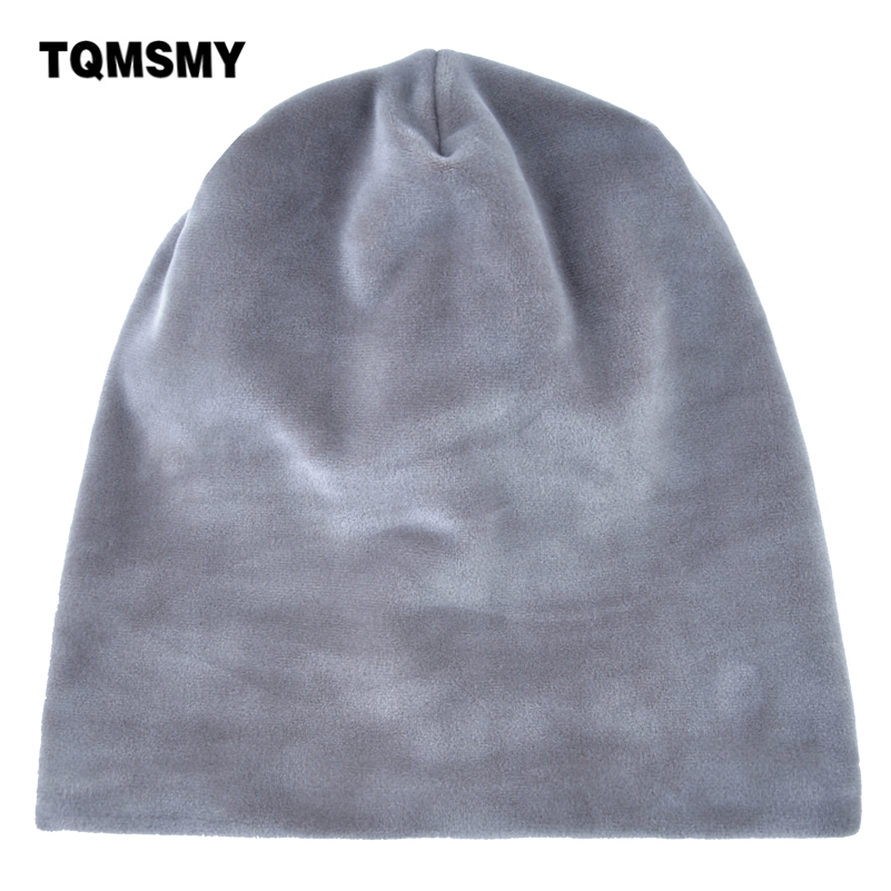 TQMSMY Solid Color Plain Knitted Hats Velvet   Skullies     Beanies   For Women Keep Warm Hat Autumn Winter Outdoor Knit Hats TMDH34