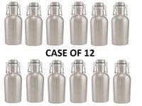 12 Pack Of STAINLESS STEEL Beer Growlers 64 Oz Craft Beer Bar Brewery Bottle Keg Home